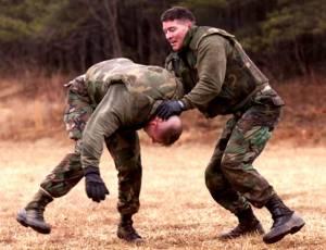 Jnc army marines cqc gilmore kelly heatherman practice unarmed strikes at marine corps base quantico va the exercise was feb 6 2001 photo courtesy us marine corps sciox Images