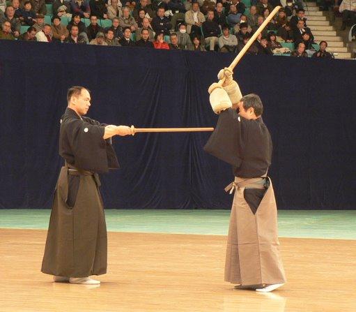 Oni gote. Esto sí que es un koté. Ono Ha Itto Ryu en el Kioto Taikai 2008 (c) The iaido journal